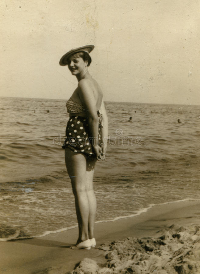 Vintage Photo Of Woman Stock Photography