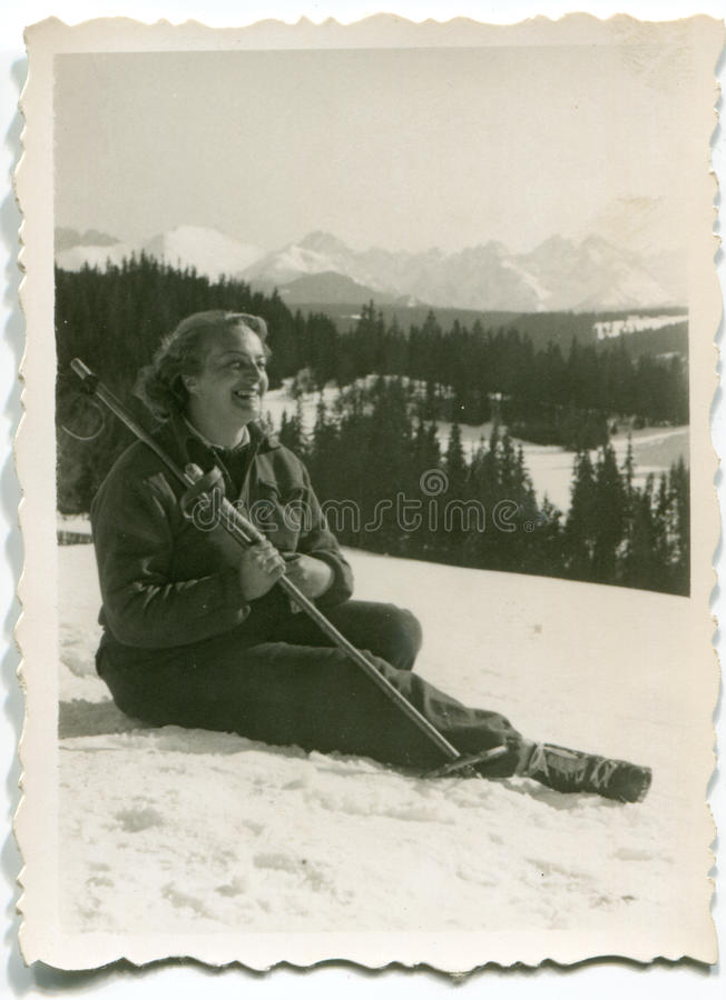 Download Vintage photo of woman stock photo. Image of sport, portrait - 24395016
