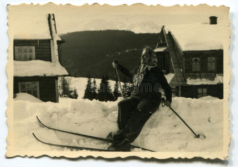 Download Vintage photo of woman stock image. Image of history - 24395133