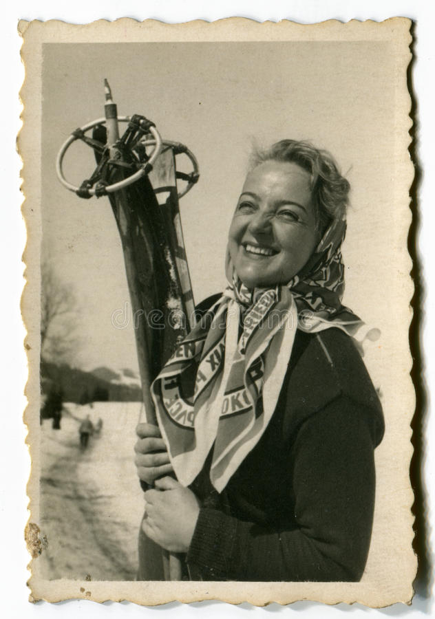 Download Vintage photo of woman stock image. Image of recreation - 24404895