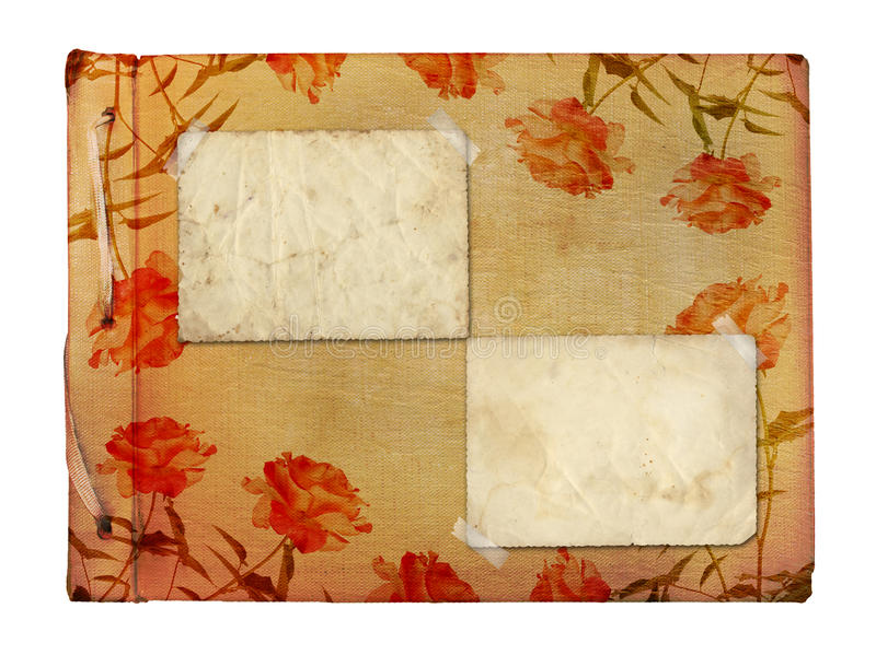Download Vintage Photoalbum For Photos With Frames Stock Photo - Image: 23187386