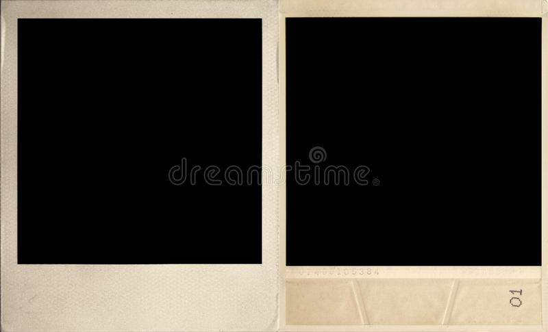 Vintage photograph. Front and rear views. royalty free stock photography