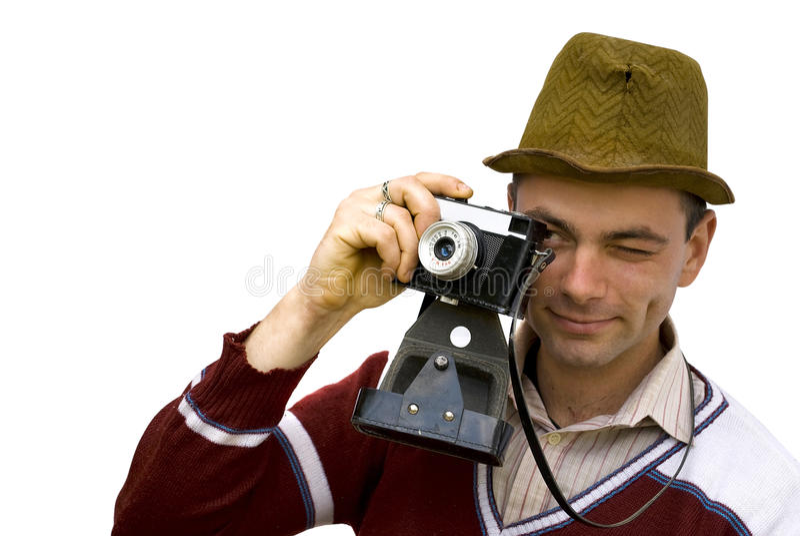 Vintage photographer royalty free stock photo