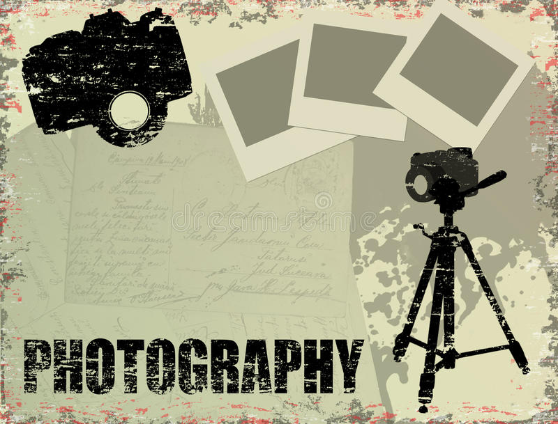 Vintage photography poster vector illustration
