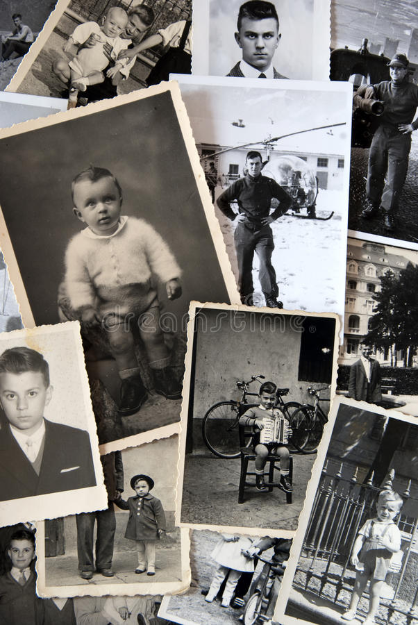 Vintage photos collection royalty free stock photography