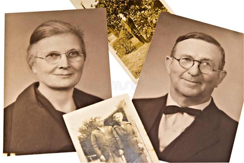 Vintage Photos in Sepia royalty free stock photos
