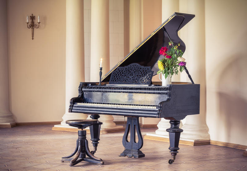 Vintage piano royalty free stock image