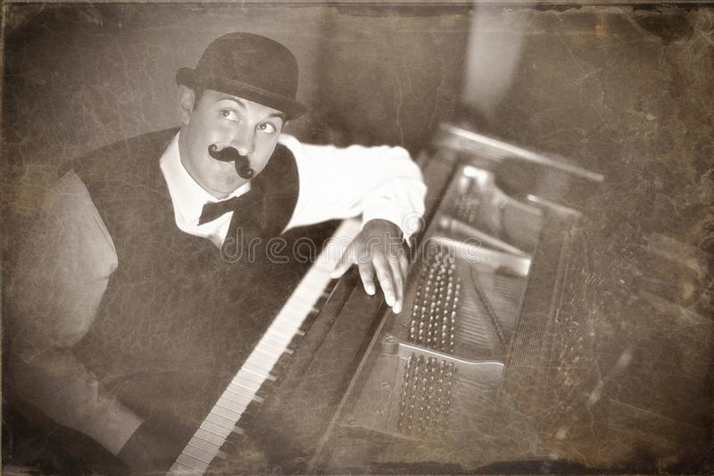 Vintage piano player royalty free stock images