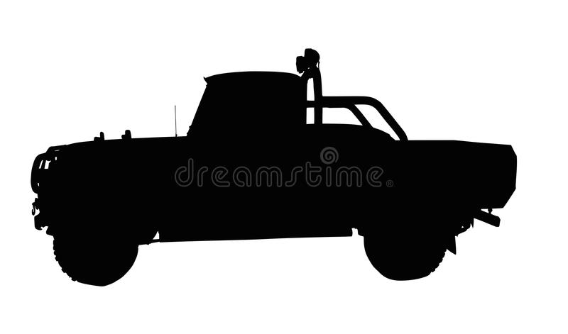 Download Vintage 4x4 Pick-up Truck Silhouette Stock Vector - Image: 42584505