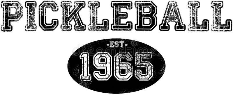 Vintage Pickleball stock image
