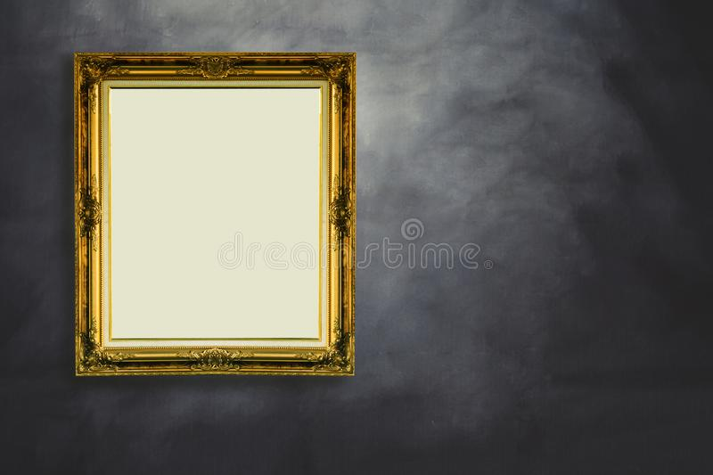 Vintage picture frame on back stock photos