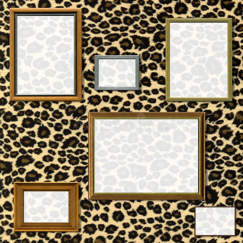 Vintage picture frame selection stock photo