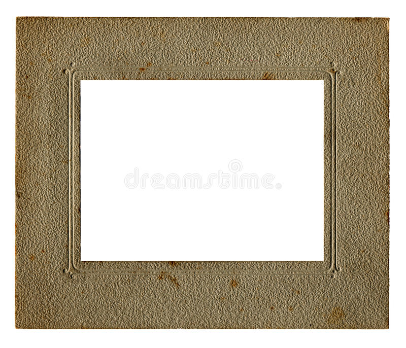 Vintage picture frame and white inner stock photos