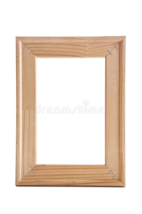 Vintage picture frame, wood plated royalty free stock photography