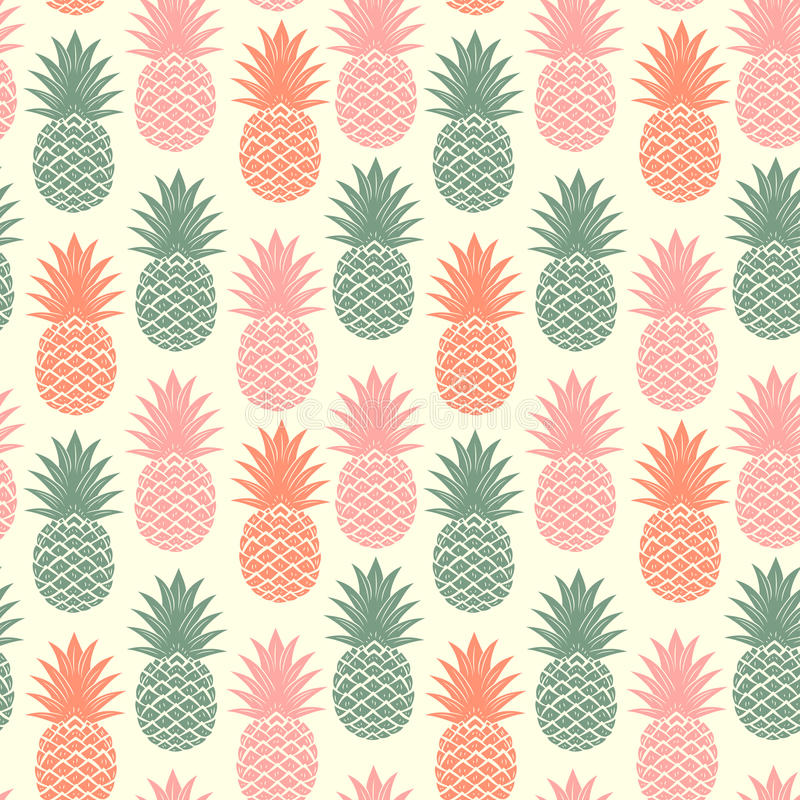 Free Vintage Pineapple Seamless Royalty Free Stock Photos - 45322898