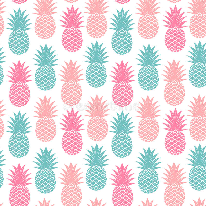 Free Vintage Pineapple Seamless Stock Photography - 46569282