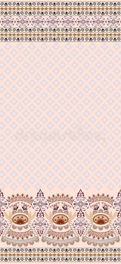 Vintage Pink Card Finely Patterned And Wide Border Stock Photography