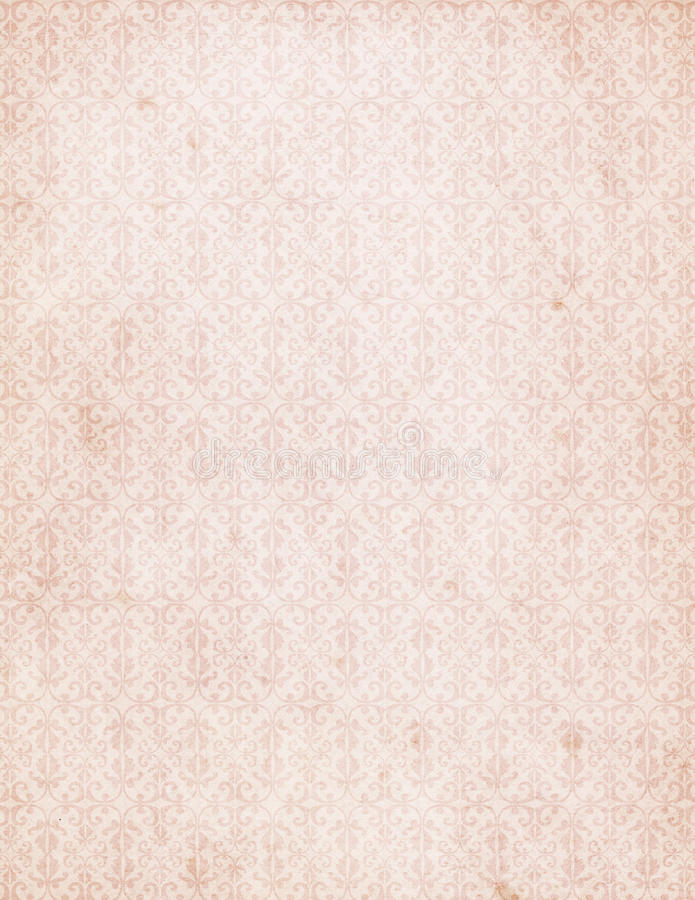 Vintage Pink Damask Pattern Wallpaper stock photo