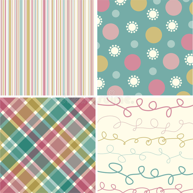 Download Vintage Pink Turquoise Pattern Stock Vector - Illustration of graphics, dots: 2950379