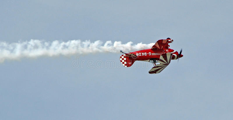 Vintage pitts special biplane royalty free stock image