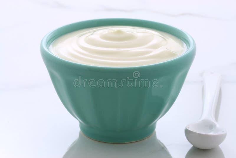 Vintage plain yogurt stock images