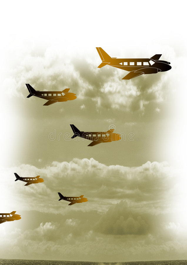 Vintage plane 11 royalty free illustration