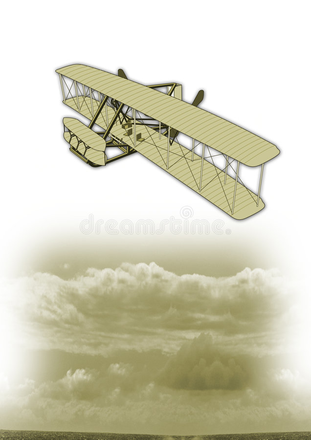Vintage plane stock illustration