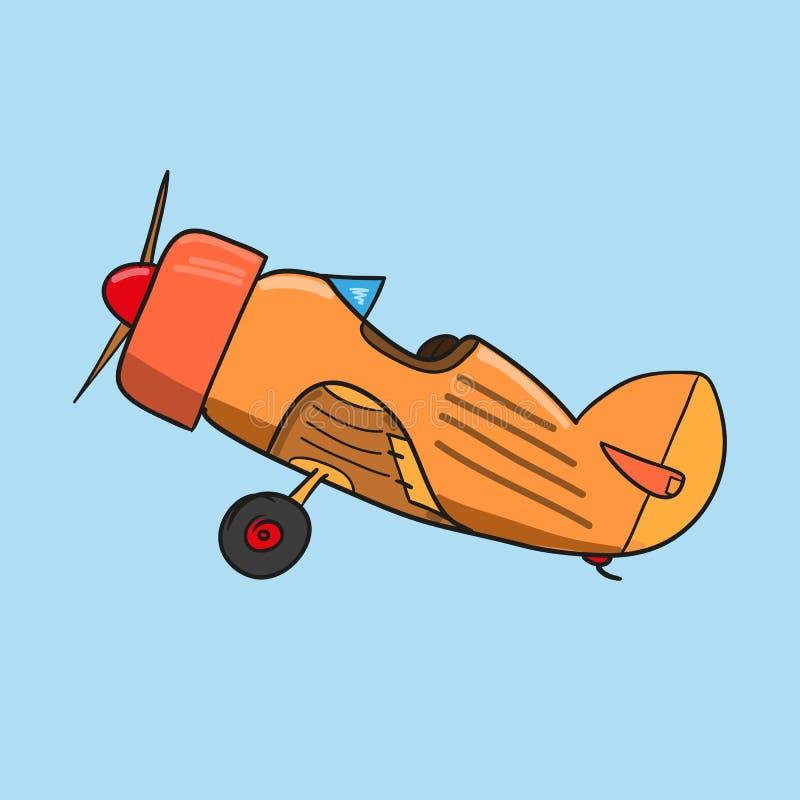 Vintage plane. illustration stock photography