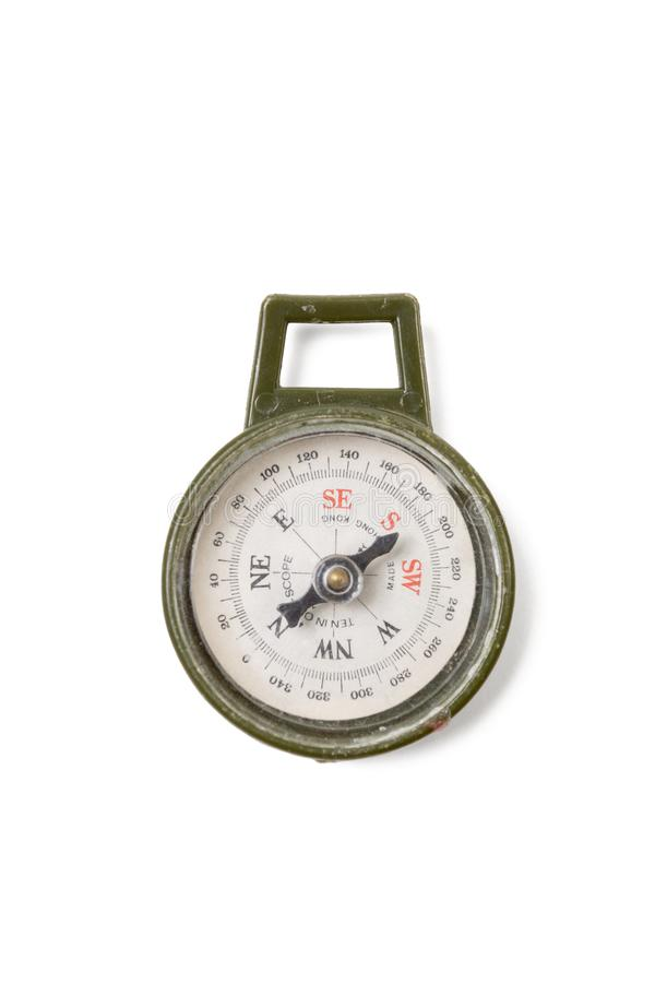 Vintage Plastic Army Compass royalty free stock images