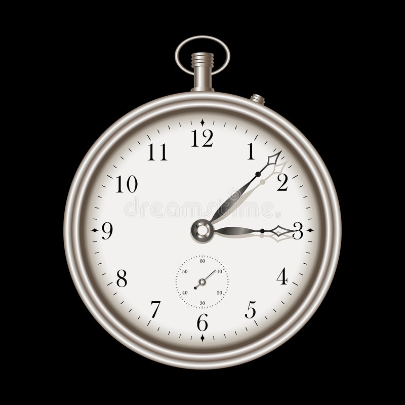 Download Vintage Pocket Clock Stock Photo - Image: 6577400