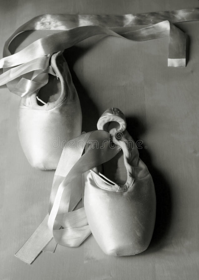 Vintage pointe shoes royalty free stock photo