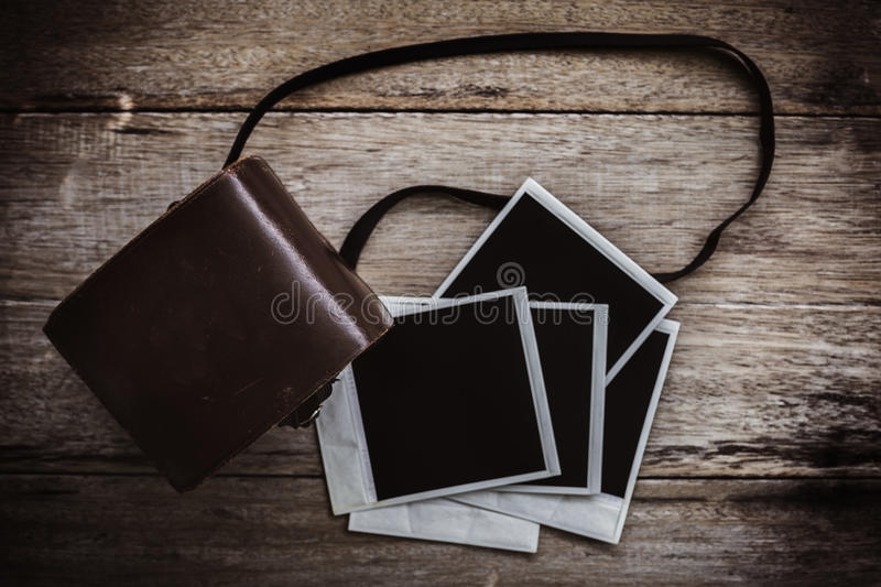 Vintage polaroid film camera royalty free stock images