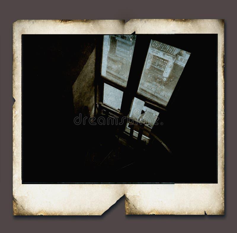Vintage Polaroid frame. 2D illustration vector illustration