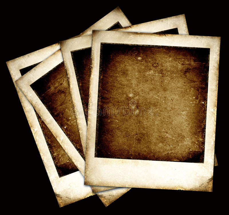 Vintage Polaroid frames stock illustration
