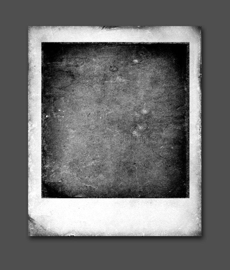 Vintage Polaroid frames royalty free illustration