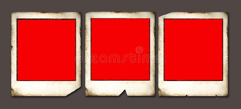Vintage Polaroid frames. 2D illustration stock illustration