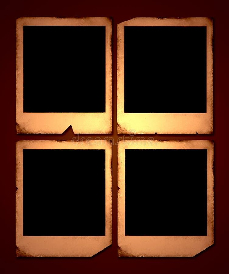 Vintage Polaroid frames. 2D illustration royalty free illustration