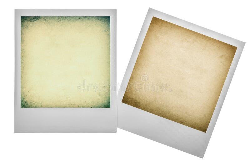 Vintage polaroid photo frames. Instagram filter effect stock images