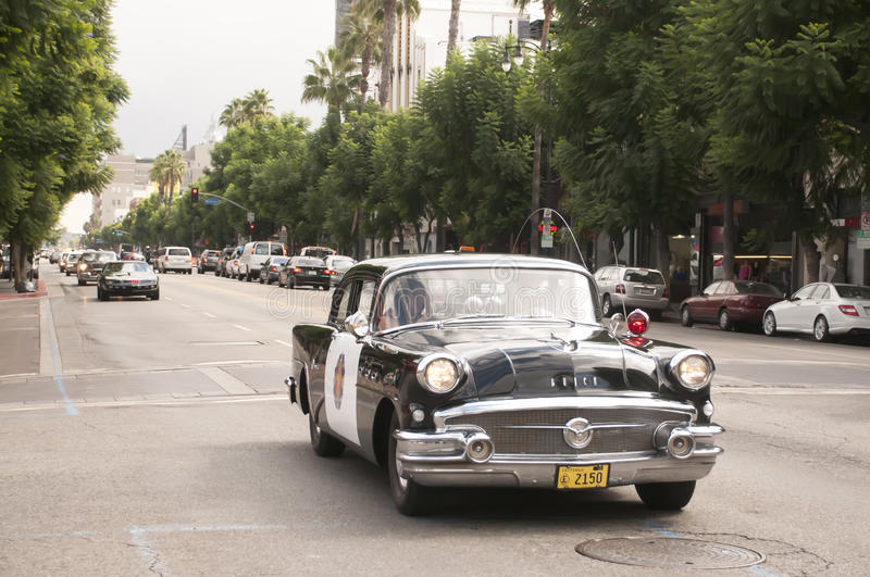 Download Vintage Police Car Parade In Hollywood Editorial Stock Image - Image: 21466779