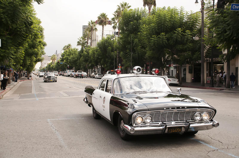 Download Vintage Police Car Parade In Hollywood Editorial Photo - Image: 21466821