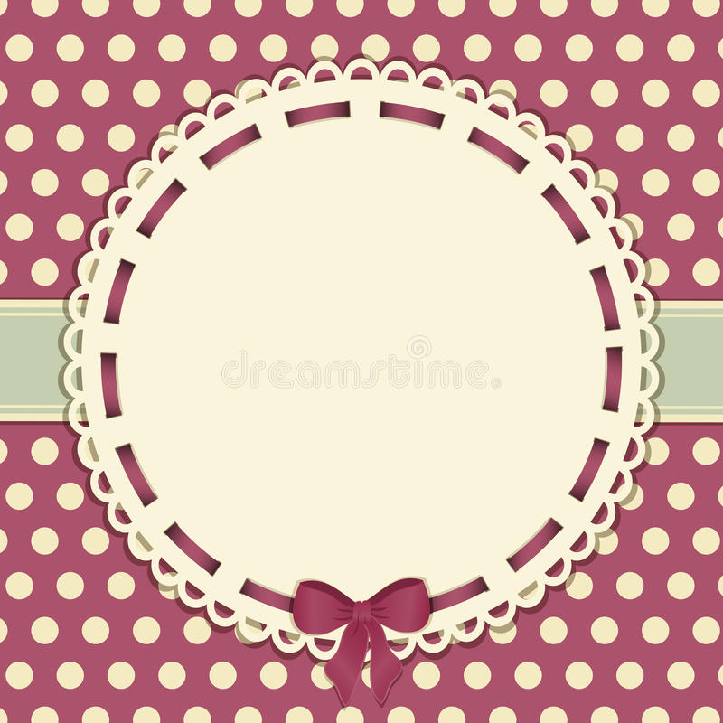 Download Vintage Polka Dot Background With Ribbon Stock Vector - Image: 23992254