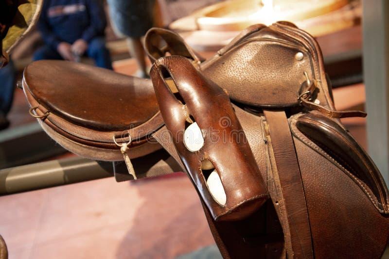 Vintage Polo Gear 1928 no museu da herança de Penrose foto de stock