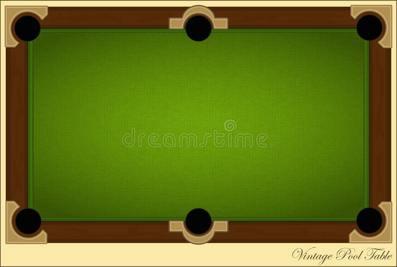 Vintage Pool Table. Retro billiards card - Vintage Pool Table with place for text - illustration stock illustration