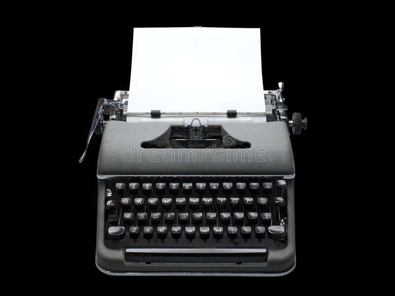 Download Vintage Portable Typewriter, Isolated Stock Image - Image: 15478029