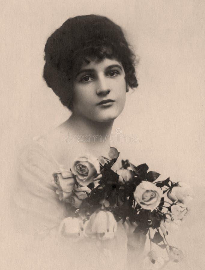Vintage portrait. royalty free stock photography