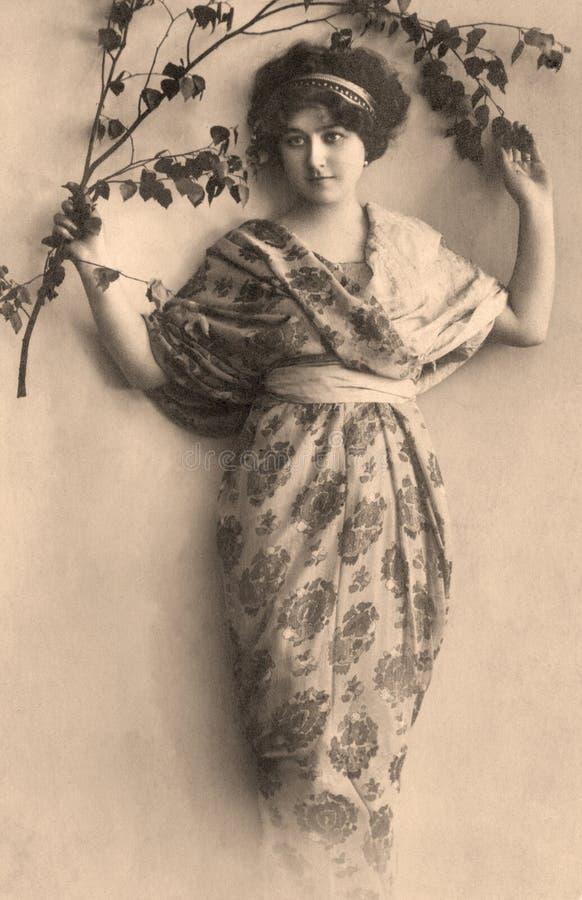 Download Vintage portrait stock photo. Image of elegance, caucasian - 25244498