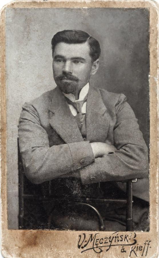 Vintage portrait of gentleman royalty free stock photo