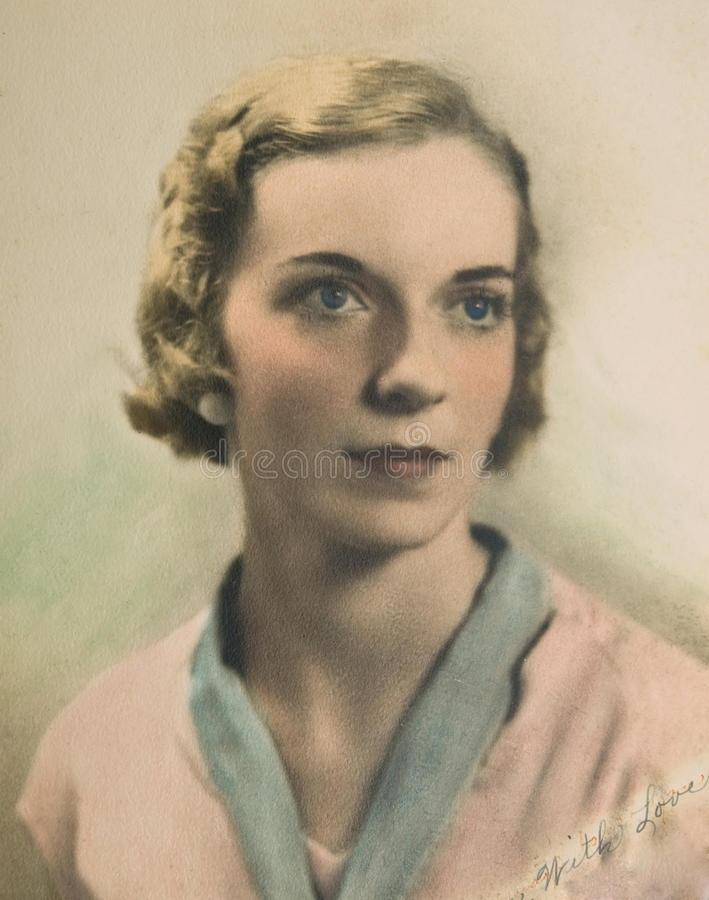 Free Vintage Portrait Of Woman /Color Royalty Free Stock Image - 10064556