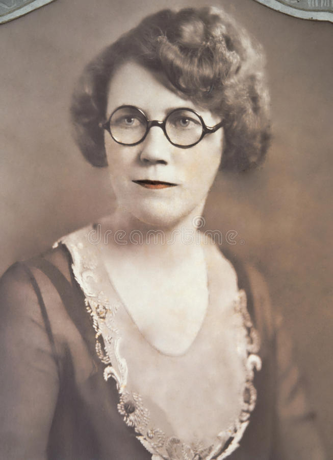 Vintage Portrait of Woman royalty free stock photos