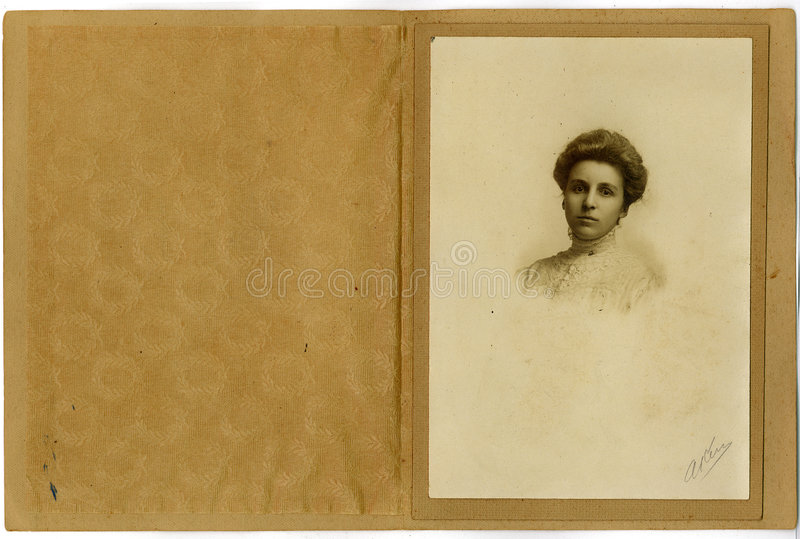 Vintage Portrait Young Woman royalty free stock photography